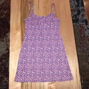 Mosaic tile printed summer dress